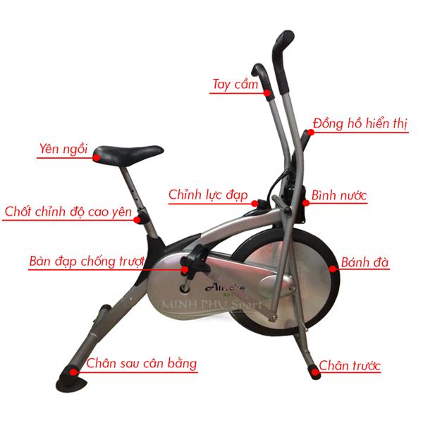 xe đạp phục hồi chức năng Air Bike - chi tiết
