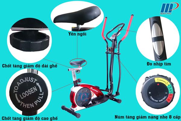 Xe đạp tập thể dục EN-220 - chi tiết