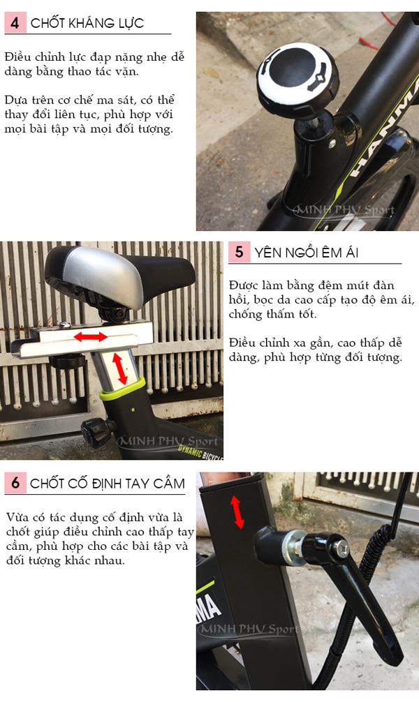 Xe đạp tập thể dục JTT-615T chi tiết