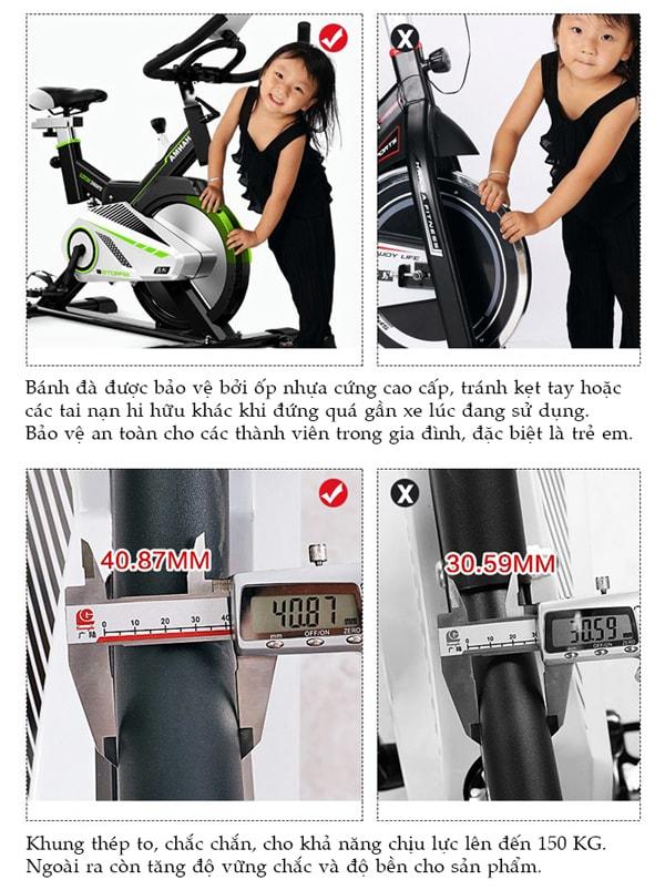 Xe đạp tập thể dục JTT-615T hộp thép