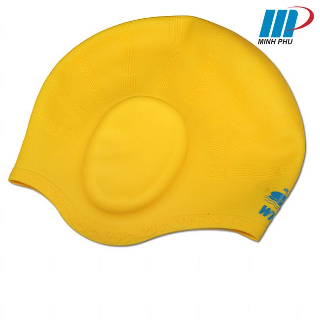 Mũ bơi bịt tai Whale màu vàng